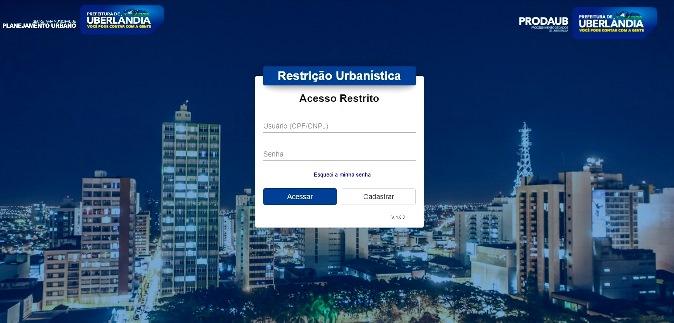 Uberlândia: pedido de restrição urbanística agora pode ser feito diretamente no site da prefeitura