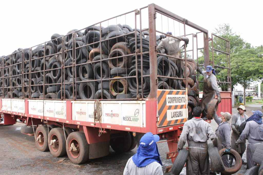 Centro de Controle de Zoonoses de Uberlândia passa a marca de 200 mil pneus recolhidos no ano