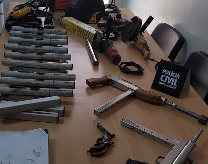Polícia Civil desmantela fábrica caseira de armas em São Sebastião do Paraíso