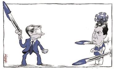 Capas dos jornais de hoje: a caneta azul de Bolsonaro