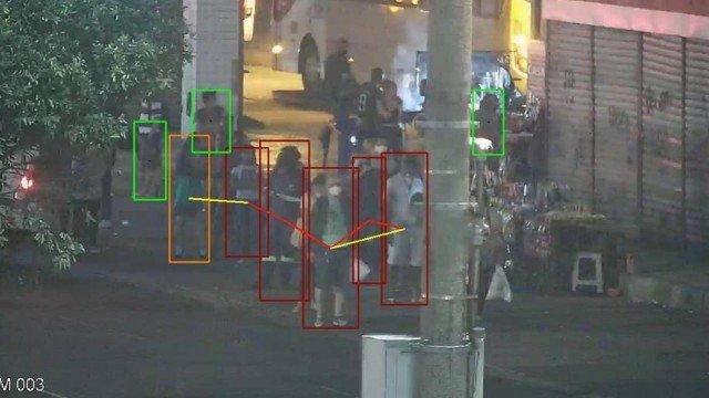 Câmeras de trânsito passam a identificar aglomerações