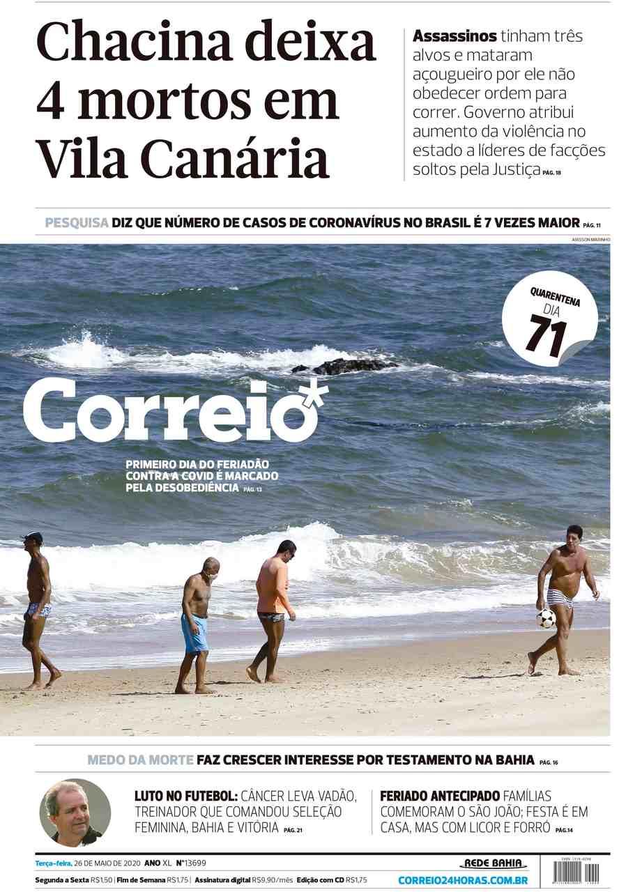 Capa dos jornais de hoje: segundo mais populoso, Minas Gerais em 'situação tranquila'