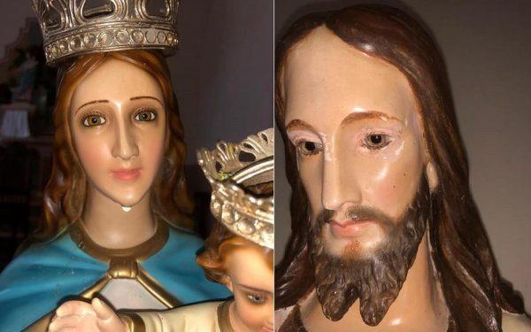 Milagre? Imagens de igreja de Minas Gerais teriam 'chorado'. Veja vídeo