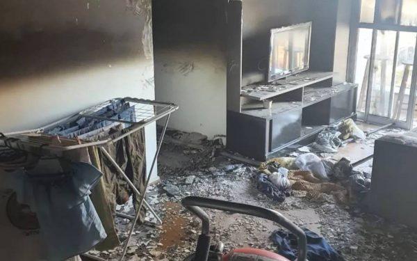 Mulher dorme com aquecedor ligado e apartamento pega fogo