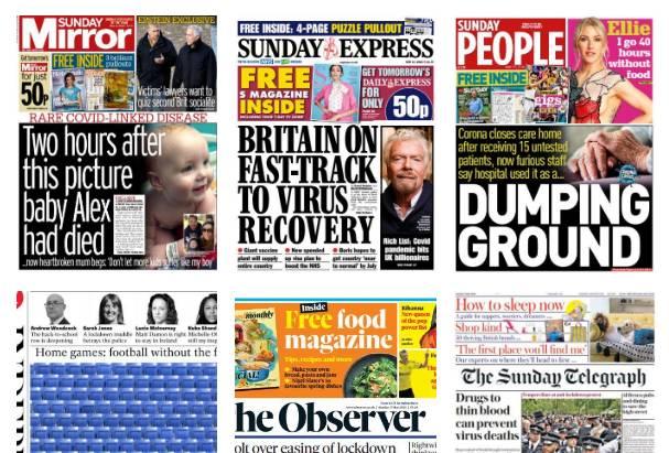 Capa dos jornais do mundo de hoje: flexibilização do Coronavírus