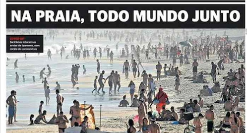 Capa dos jornais de hoje: protestos, crise política e pandemia