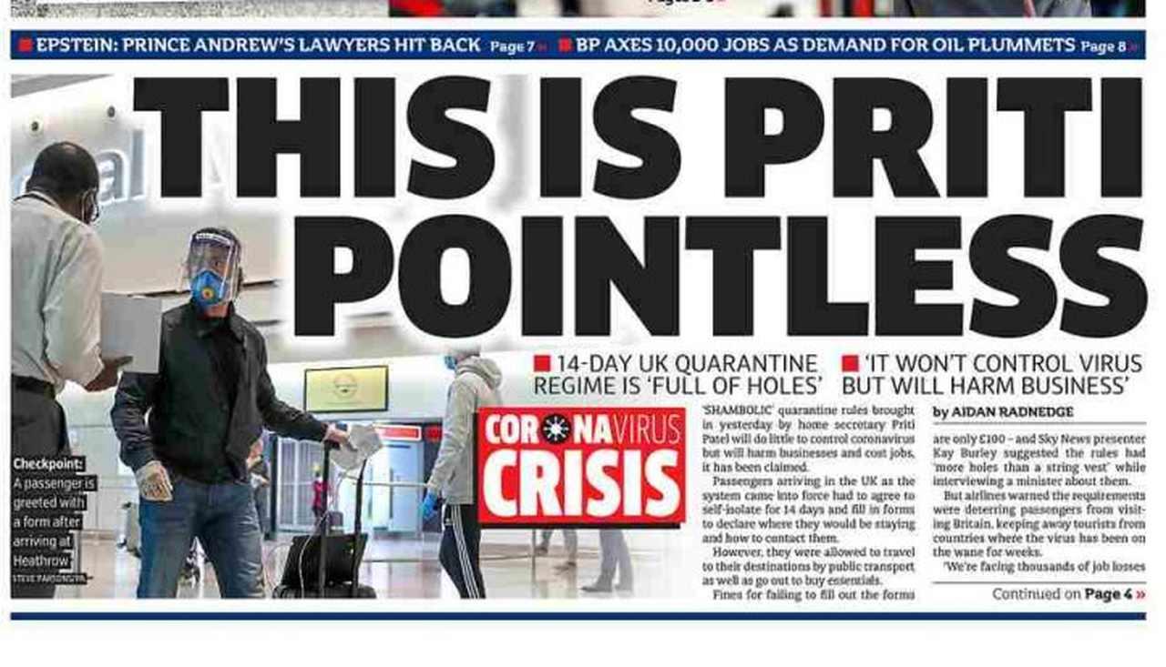 Capa dos jornais do Reino Unido de amanhã: volta às aulas só em setembro