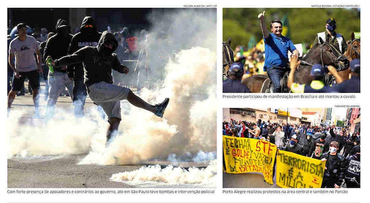 Capa dos jornais de hoje: Folha de S. Paulo cita 'Diretas Já'