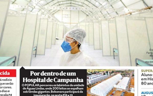 Capa dos jornais de hoje: Brasil renova recorde de mortos