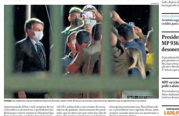 Capa dos jornais de hoje: à espera do exame de Bolsonaro