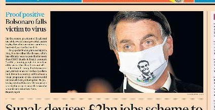 Positivo: Bolsonaro é capa do Financial Times desta quarta
