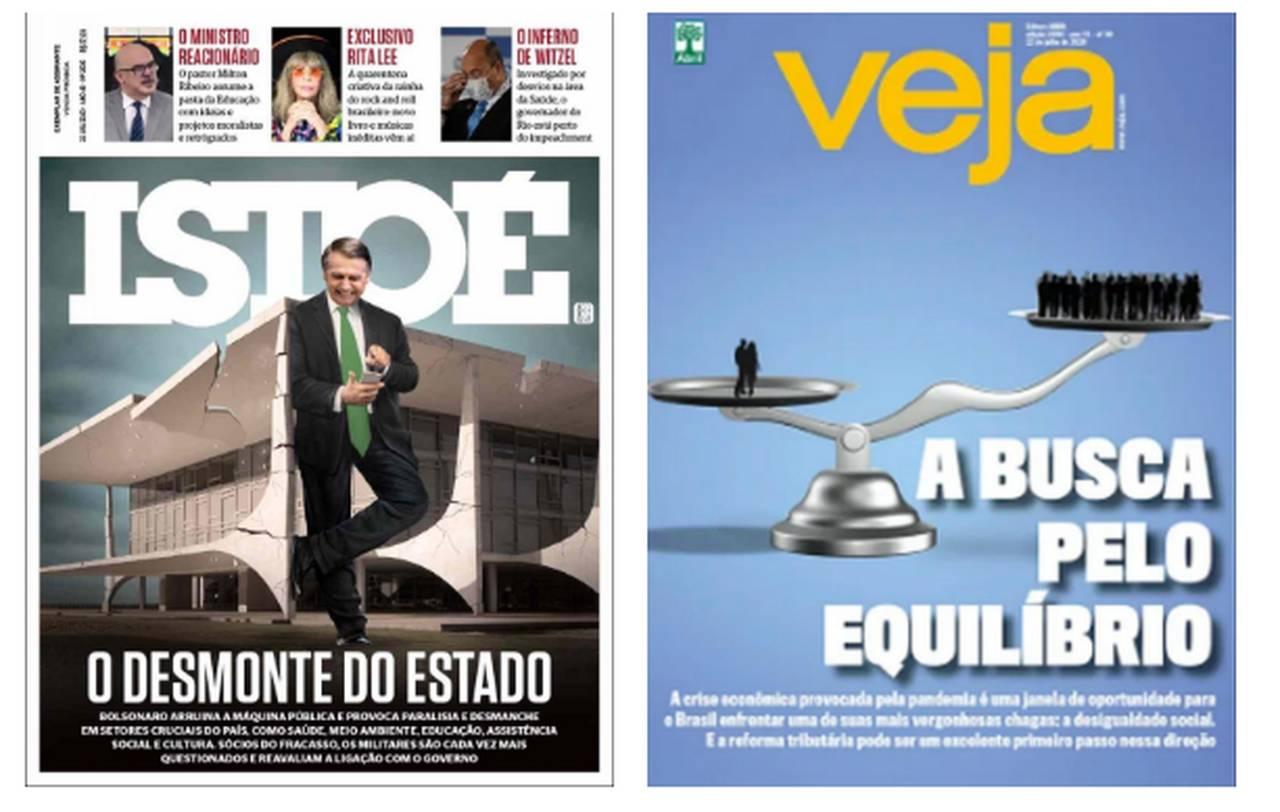 Capa das revistas da semana: denúncias contra Bolsonaro
