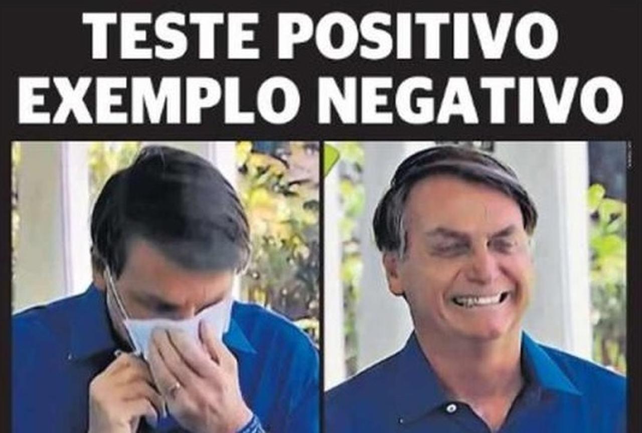 Capa dos jornais de hoje: Bolsonaro contaminado