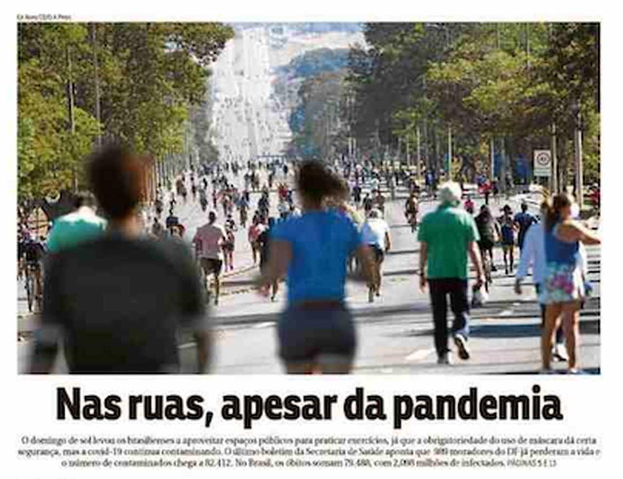 Capa dos jornais de hoje: o Brasil volta para as ruas