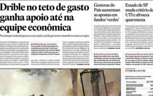 Capa dos jornais de hoje: os embaraços para a retomada da economia