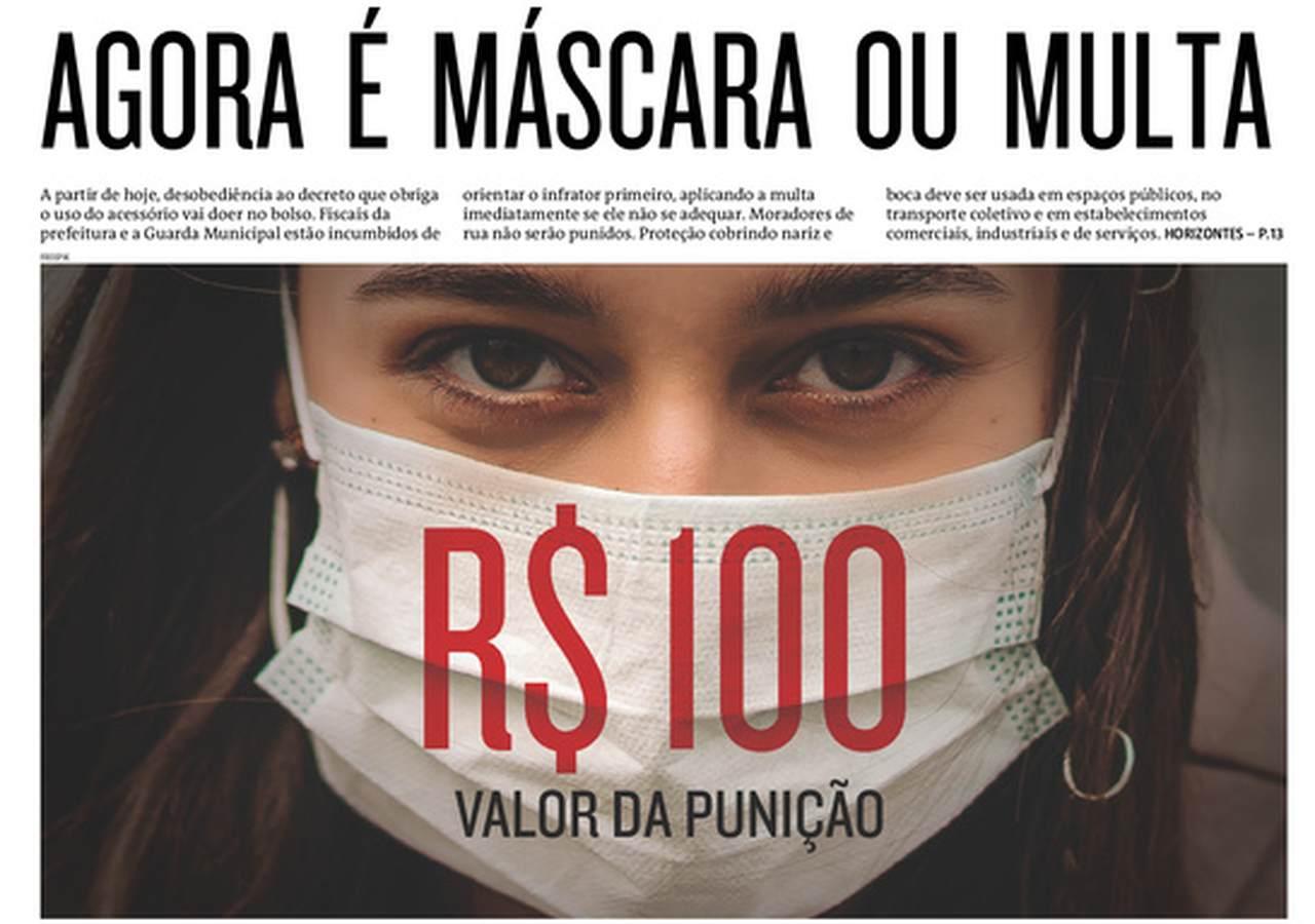 Capa dos jornais de hoje: uso obrigatório de máscaras