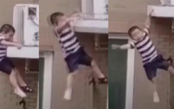 Heroísmo: homem salva criança de dois anos que caiu do quarto andar