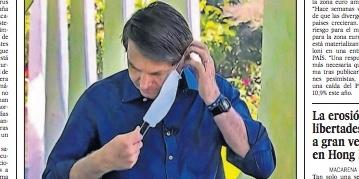 Primeira página do El País: 'Bolsonaro se contamina, mas minimiza pandemia'