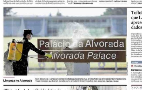 Capa dos jornais de hoje: Bolsonaro de quarentena e reabertura