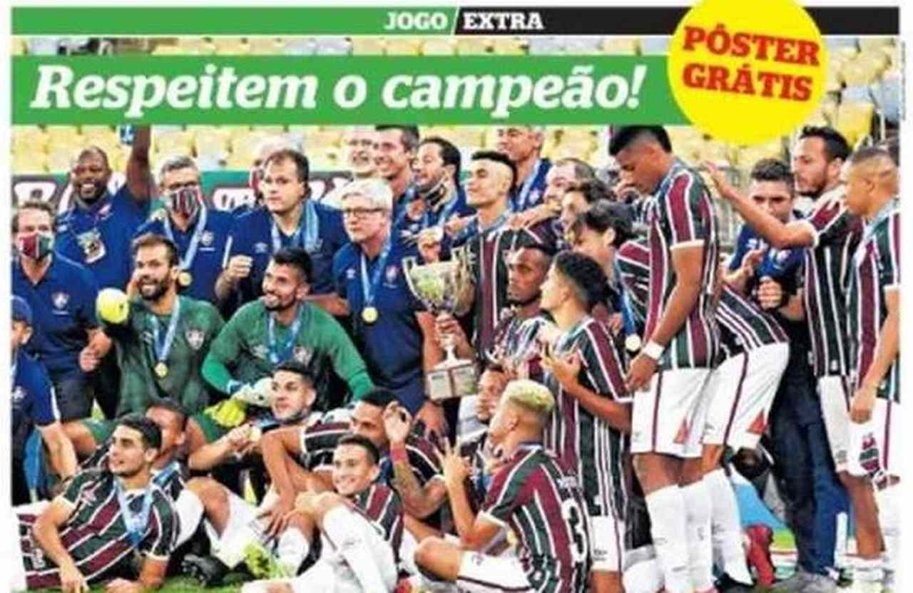 Capa dos jornais de hoje: Fluminense, Ricardo Eletro e Coronavírus