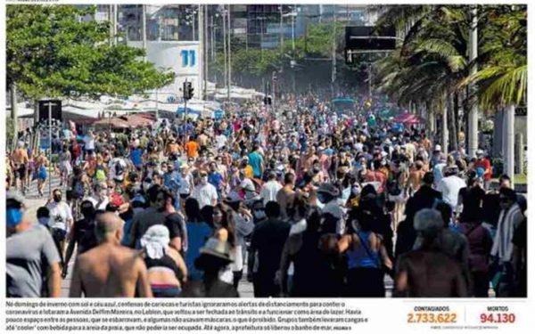 Capa dos jornais de hoje: fim de semana de ruas lotadas
