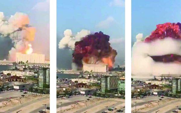 O momento exato da assustadora explosão no Líbano: milhares sob escombros