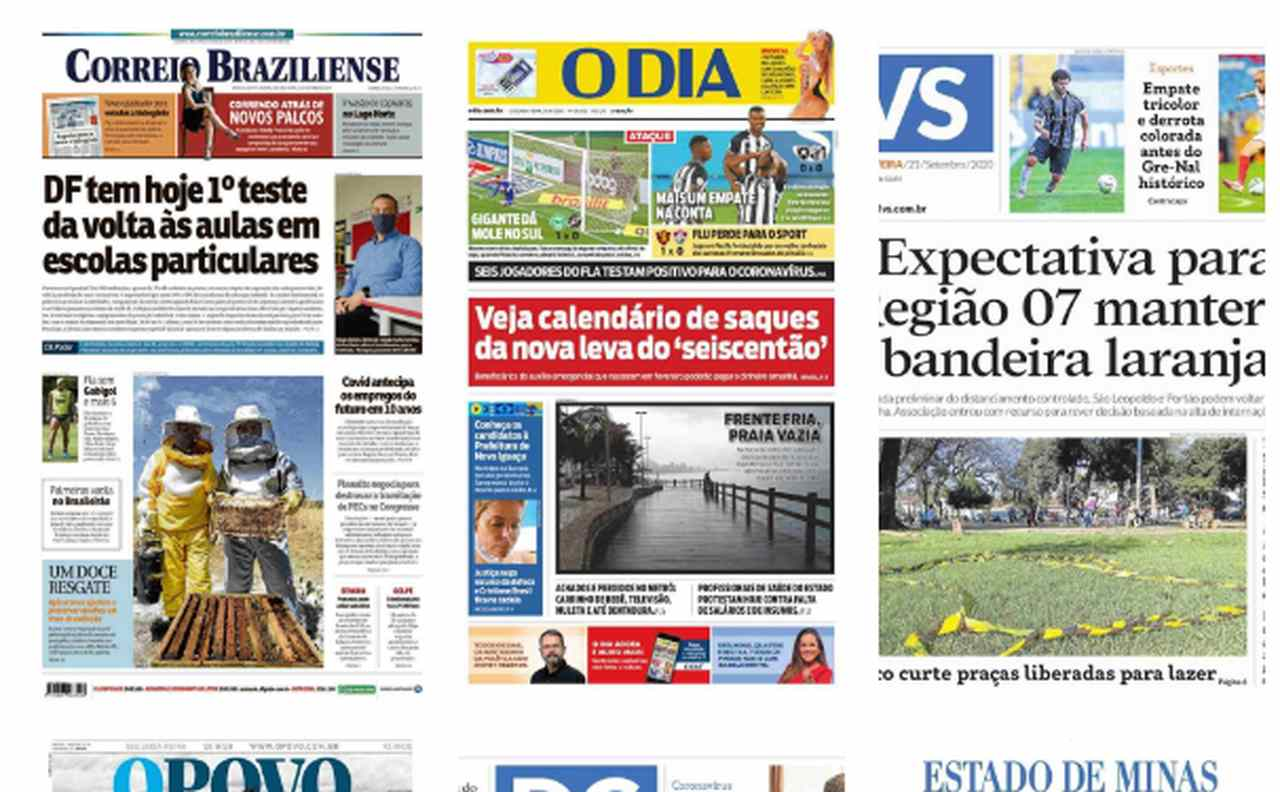 capa dos jornais