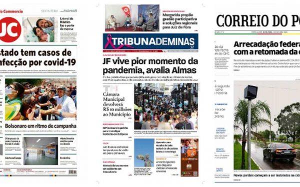 Capa dos jornais de hoje: 2 de outubro de 2020