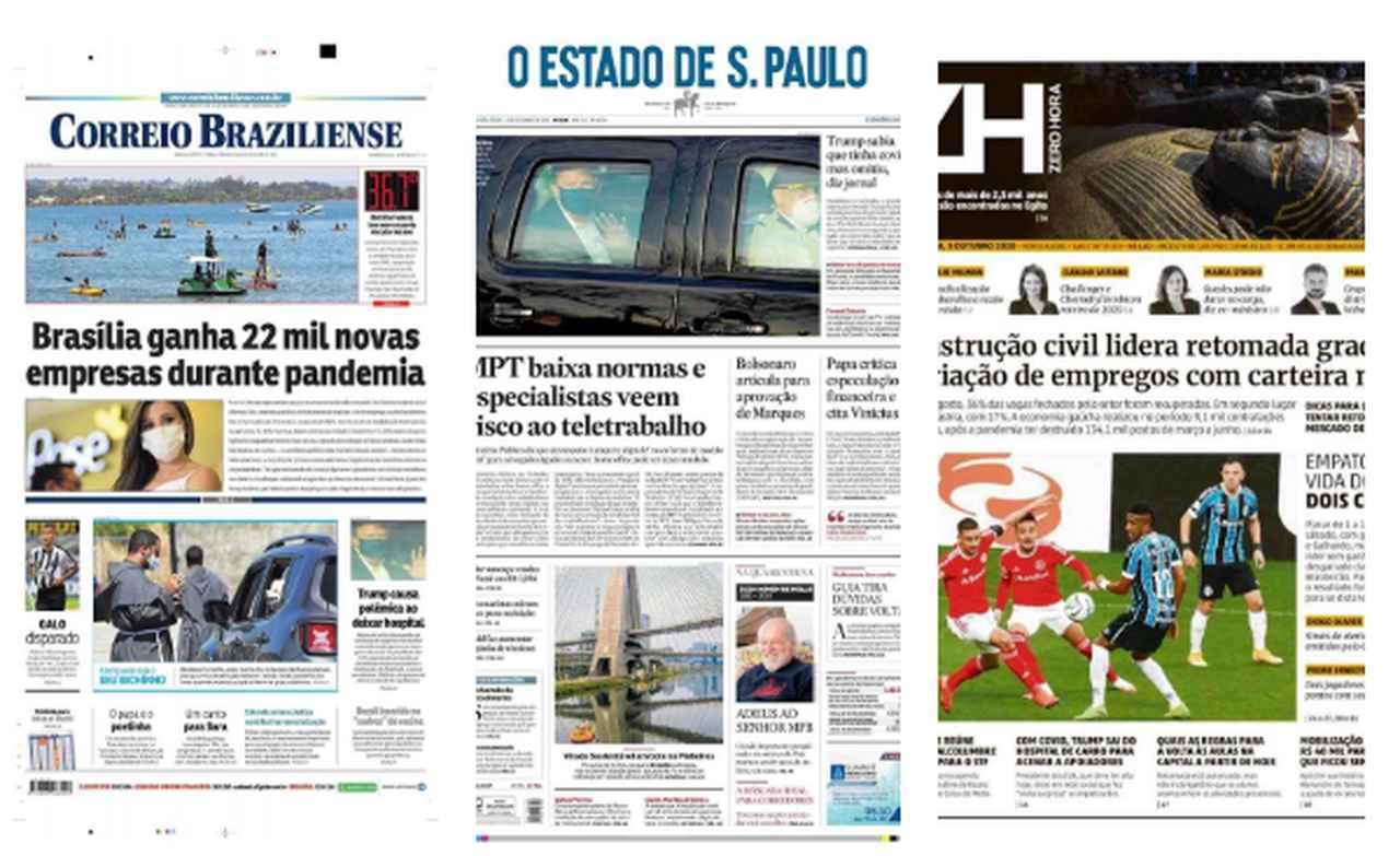 capa dos jornais de hoje